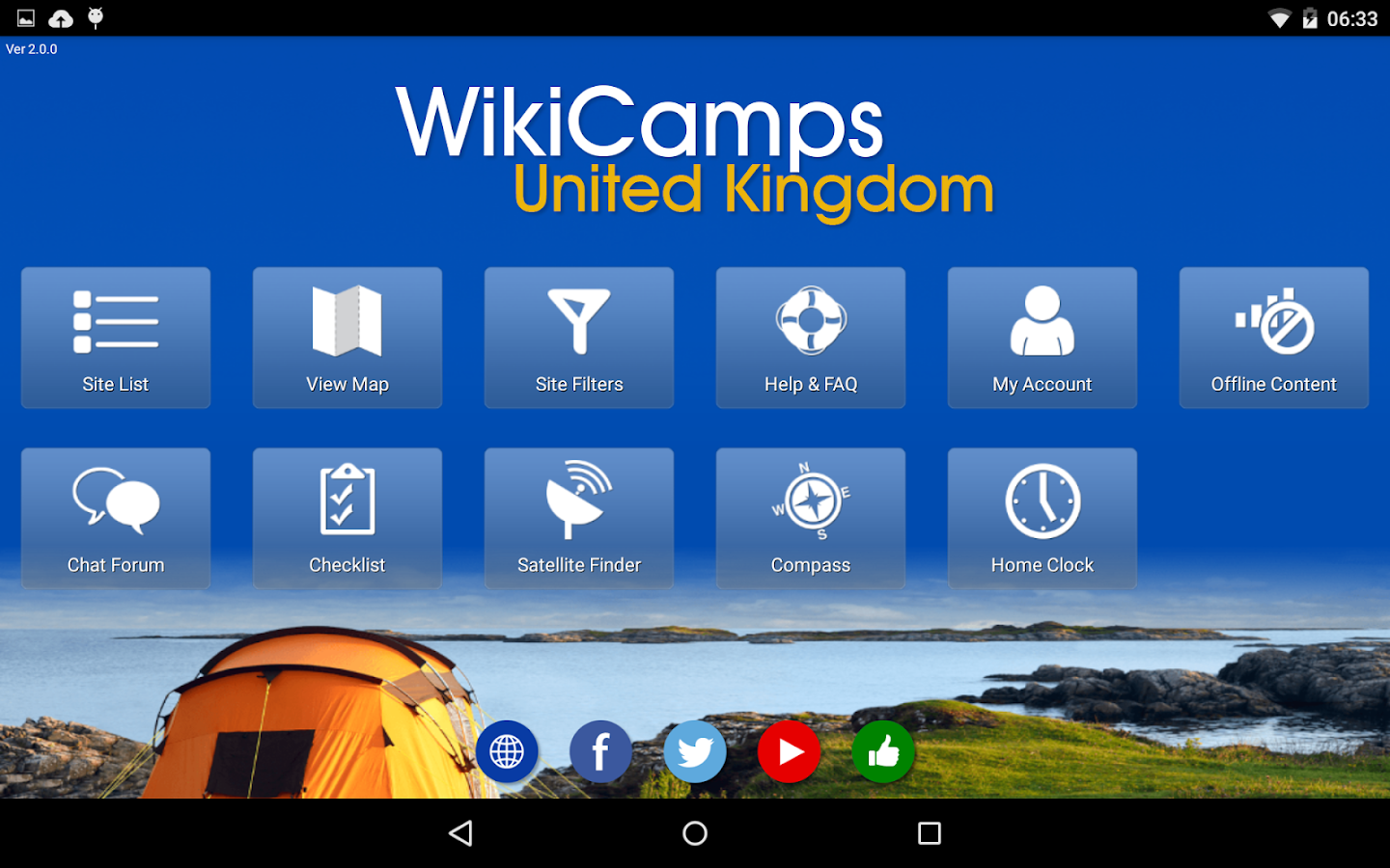 WikiCamps UK- screenshot