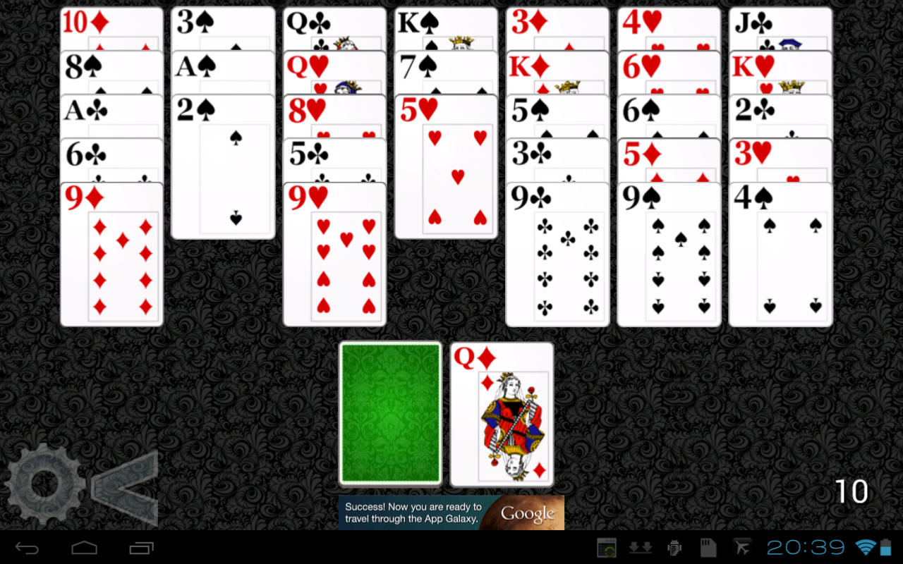Golf Solitaire HD- screenshot