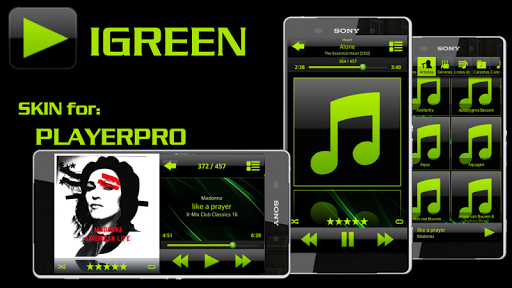 PlayerPro Skin I GREEN