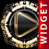 Poweramp Widget Golden Knight