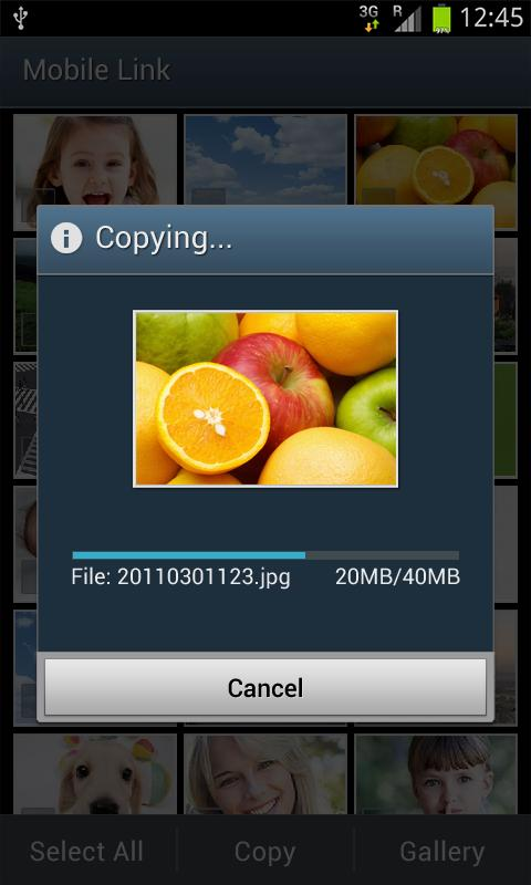 Samsung SMART CAMERA App- screenshot