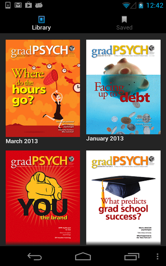 gradPSYCH - screenshot